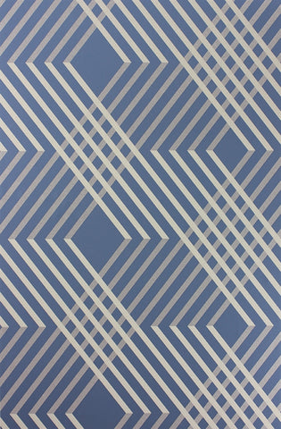 Petipa Wallpaper in Ultramarine from the Fantasque Collection by Osborne & Little