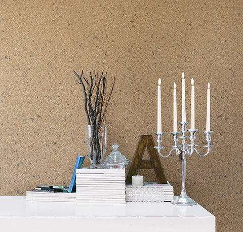 Petra Bone Mica Chip Wallpaper from the Jade Collection by Brewster Home Fashions