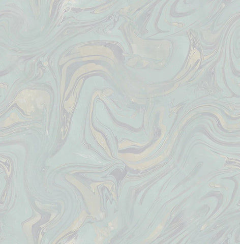 Petra Wallpaper in Turquoise from the Sanctuary Collection by Mayflower Wallpaper