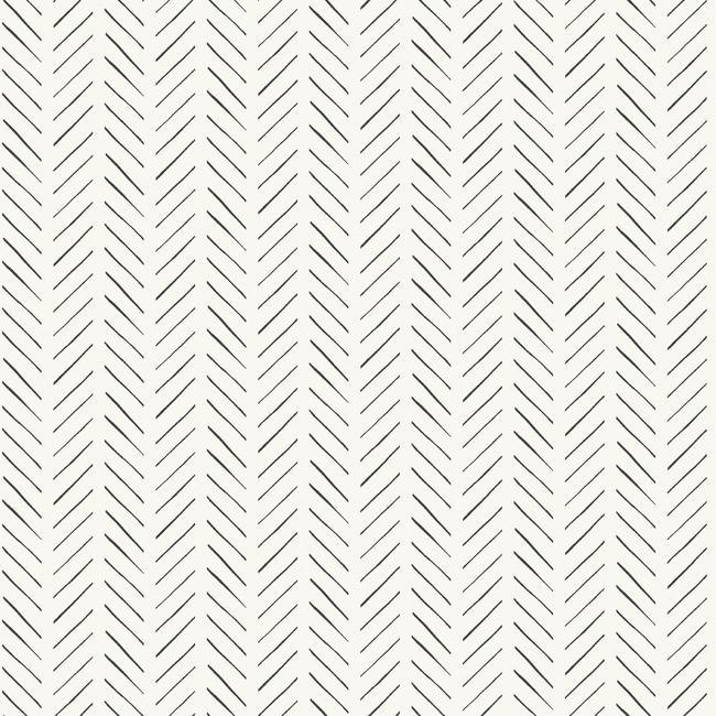 Pick-Up Sticks Peel & Stick Wallpaper in Black and White by Joanna Gaines for York Wallcoverings