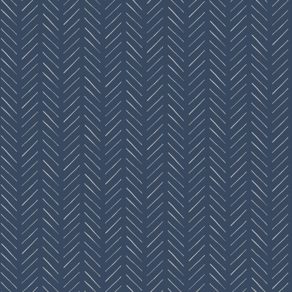 Pick-Up Sticks Wallpaper in Blue from the Magnolia Home Vol. 3 Collection by Joanna Gaines