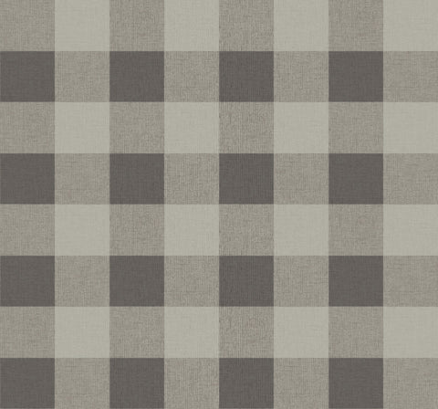 Picnic Plaid Wallpaper in Black Sands from the Beach House Collection by Seabrook Wallcoverings