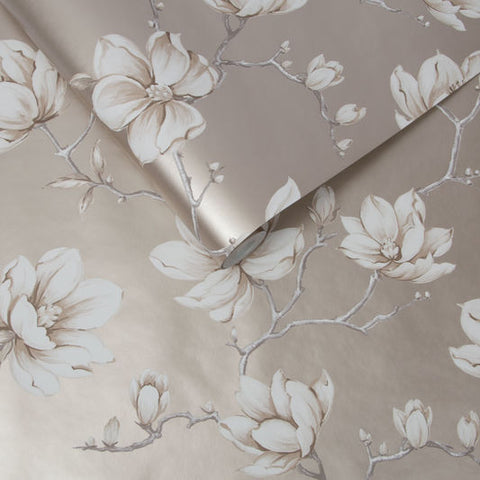 Pierre Wallpaper in White Gold from the Exclusives Collection by Graham & Brown
