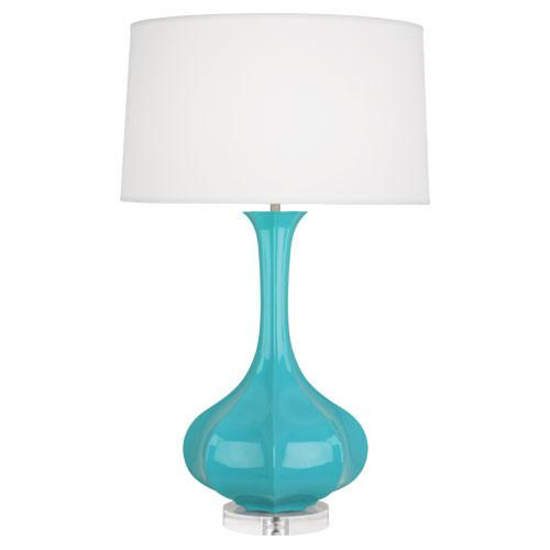 Pike Table Lamp with Lucite Base in Assorted Colors design by Robert Abbey