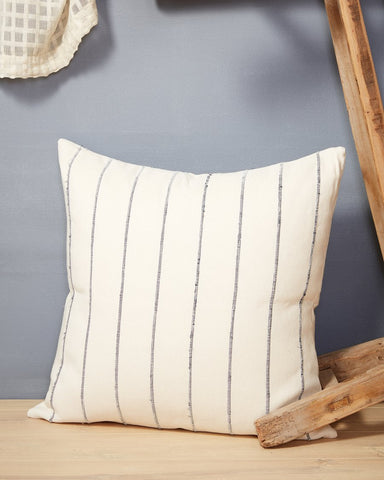 Recycled Stripe Pillow in Grey design by Minna
