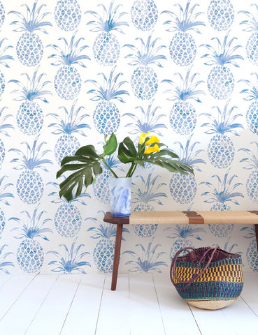 Pina Pintada Wallpaper in Macaw design by Aimee Wilder