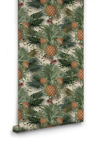 Pineapple Harvest Wallpaper in Day from the Kingdom Home Collection by Milton & King
