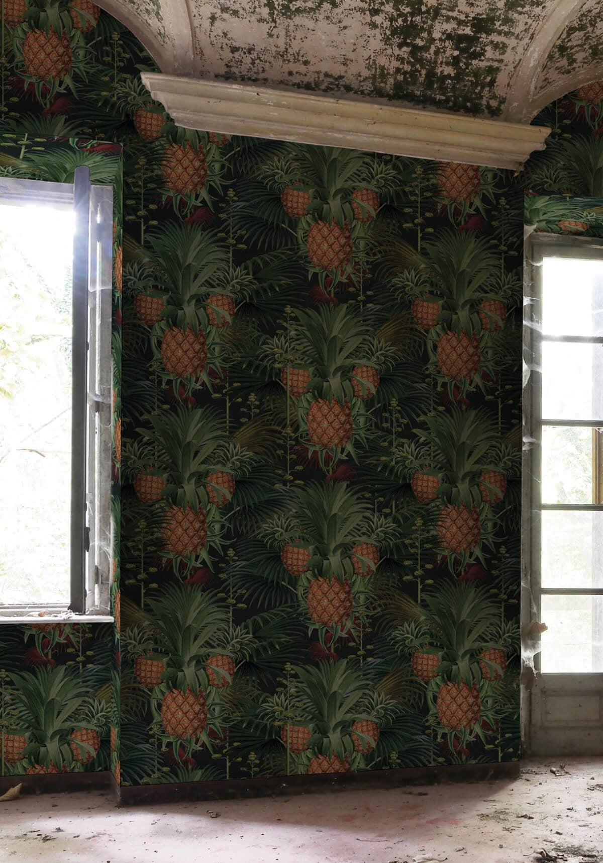 Pineapple harvest wallpaper in night from the kingdom home for Home wallpaper collection