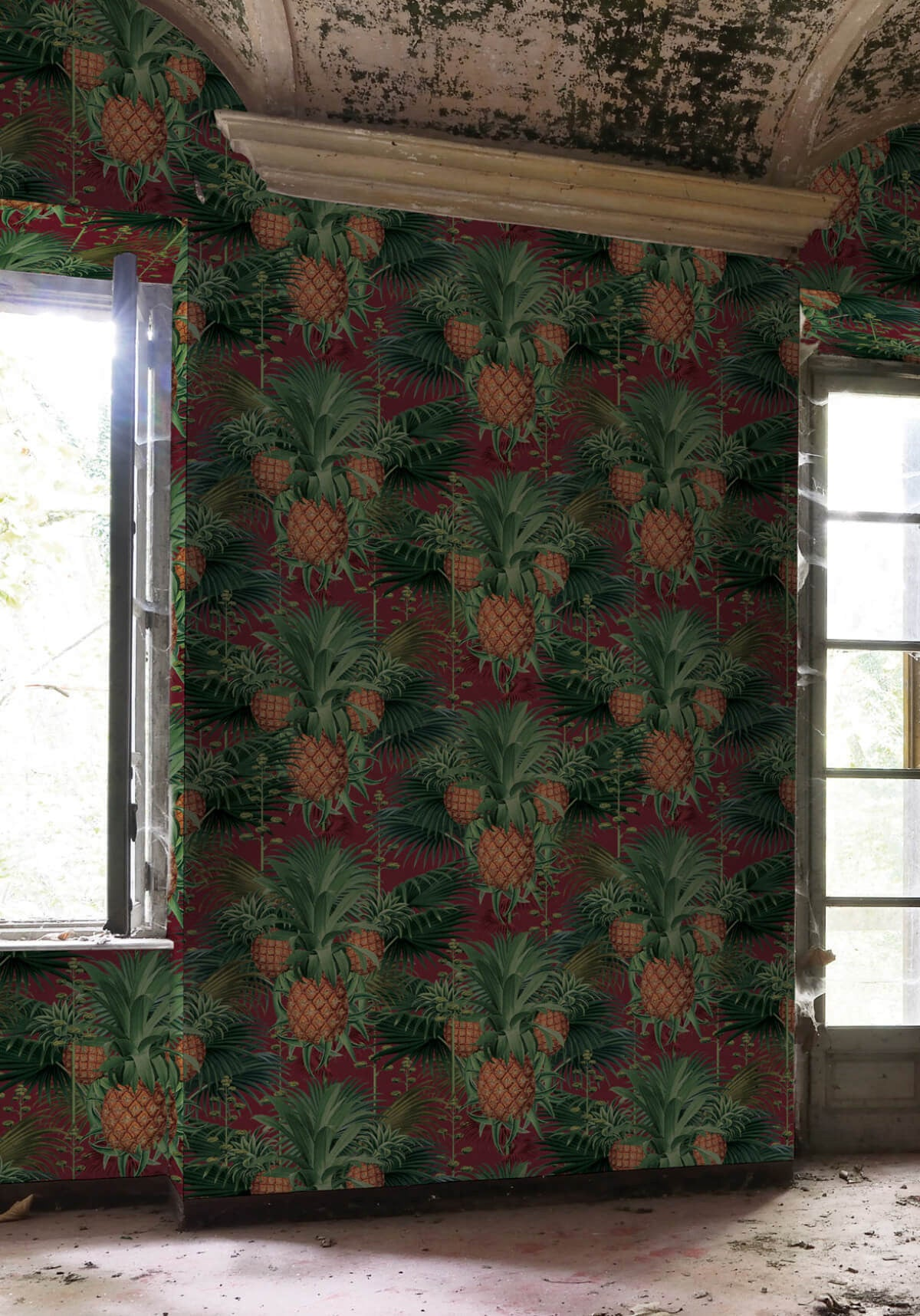 Pineapple harvest wallpaper in red tide from the kingdom for Home wallpaper collection