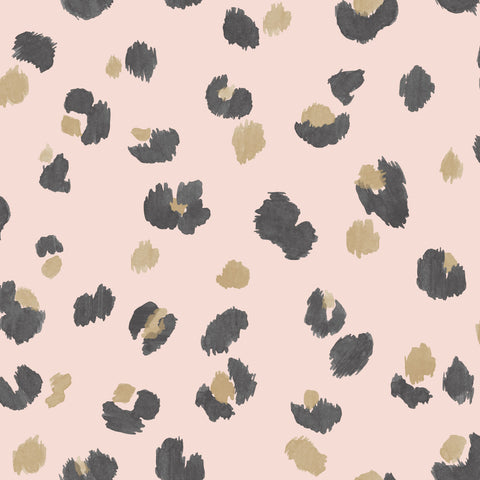 Sample Pink Painted Leopard Wallpaper by Walls Republic