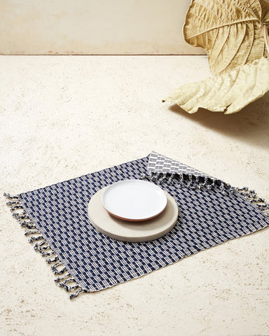 Panalito Placemat in Indigo design by Minna