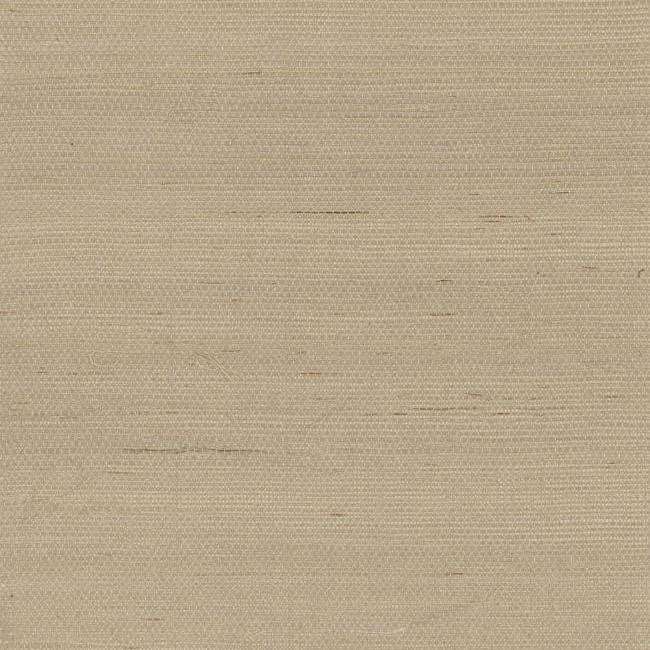 Plain Grass Wallpaper in Beige from the Grasscloth II Collection by York Wallcoverings