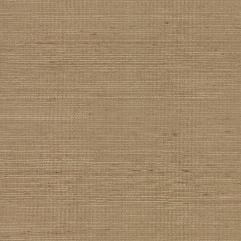Plain Grass Wallpaper in Brown from the Grasscloth II Collection by York Wallcoverings