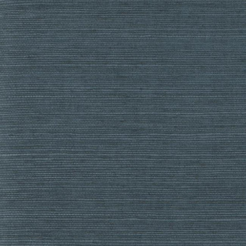 Plain Grass Wallpaper in Deep Blue from the Grasscloth II Collection by York Wallcoverings
