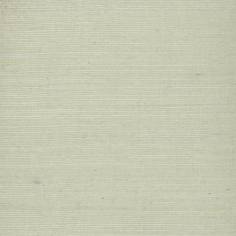 Plain Grass Wallpaper in Soft Mint Grey from the Grasscloth II Collection by York Wallcoverings
