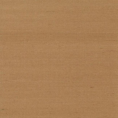 Plain Grass Wallpaper in Tan from the Grasscloth II Collection by York Wallcoverings