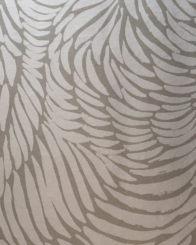 Plume Wallpaper in Pewter design by Jill Malek
