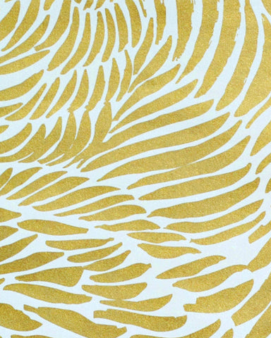 Sample Plume Wallpaper in Rich Gold design by Jill Malek