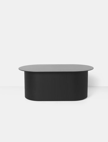 Podia Table Oval in Black by Ferm Living