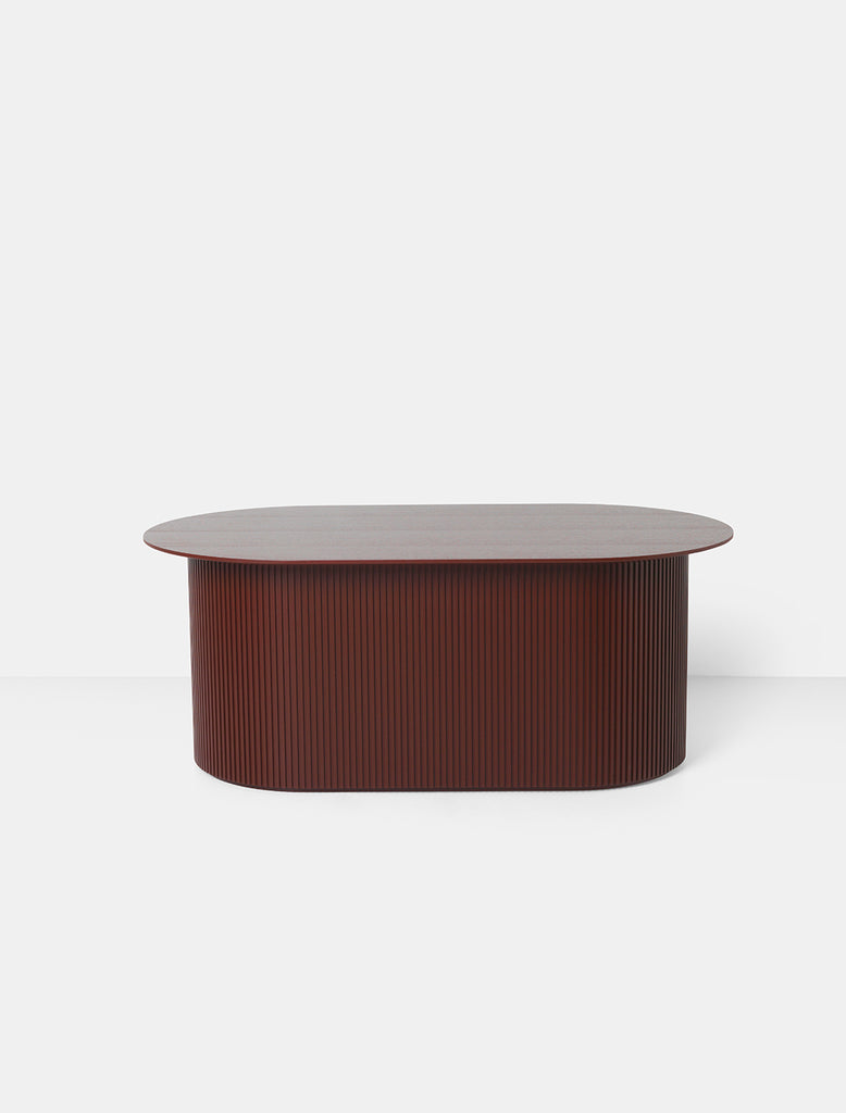 Podia Table Oval in Red Brown by Ferm Living