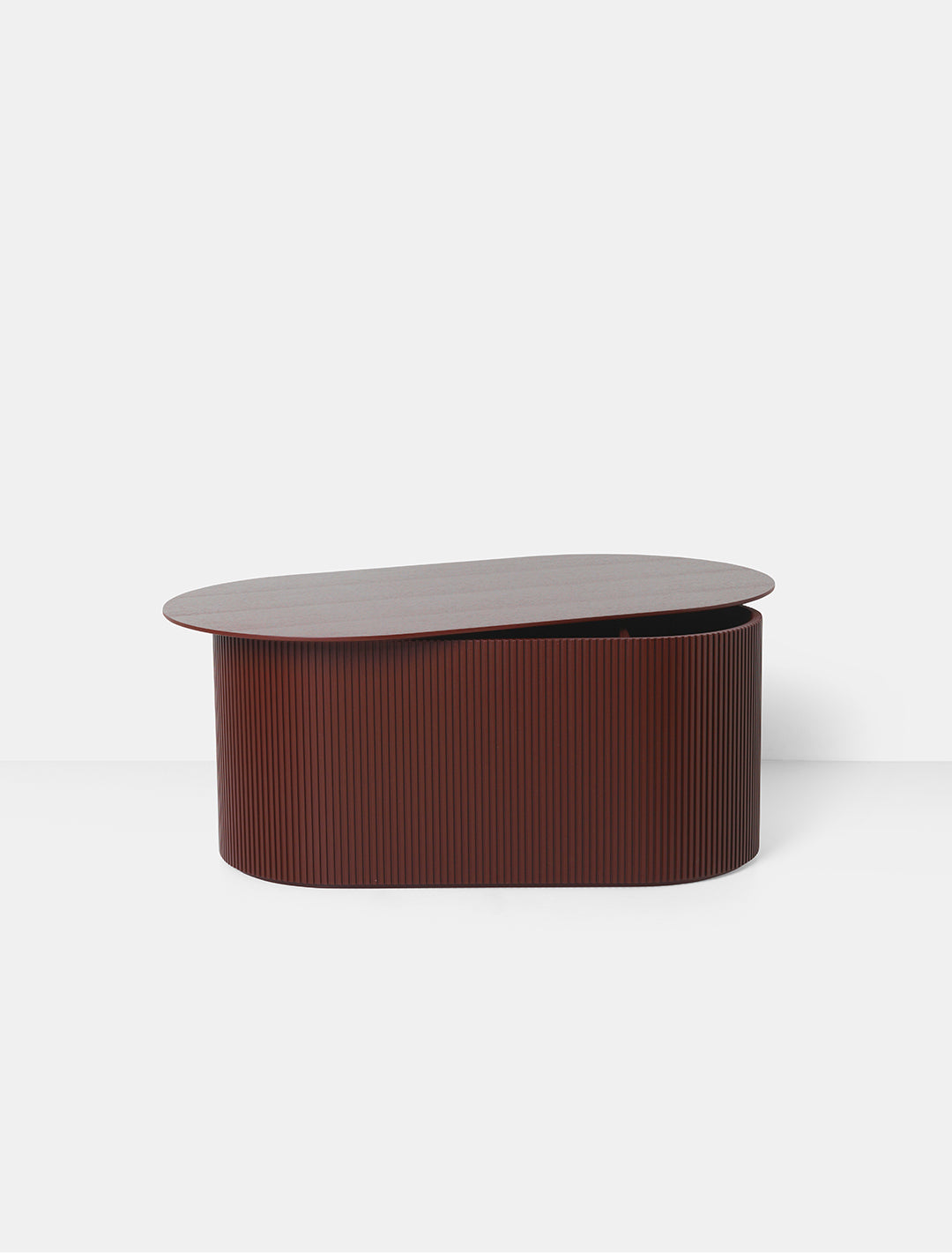 Podia Table Oval in Red Brown design by Ferm Living