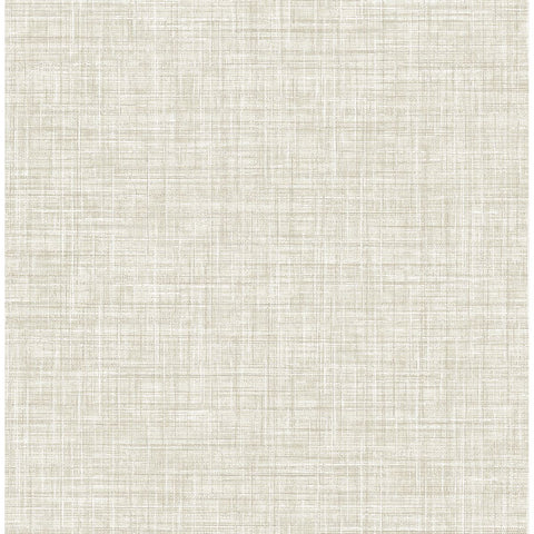 Poise Linen Wallpaper in Beige from the Celadon Collection by Brewster Home Fashions