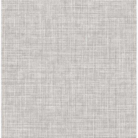 Poise Linen Wallpaper in Grey from the Celadon Collection by Brewster Home Fashions