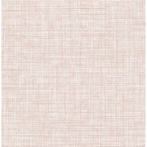 Poise Linen Wallpaper in Pink from the Celadon Collection by Brewster Home Fashions