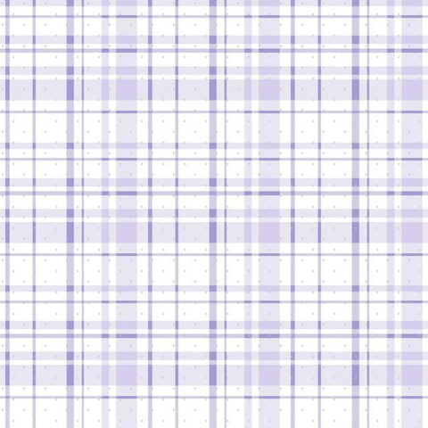 Polka Dot Plaid Wallpaper in Purple and Silver from the A Perfect World Collection by York Wallcoverings