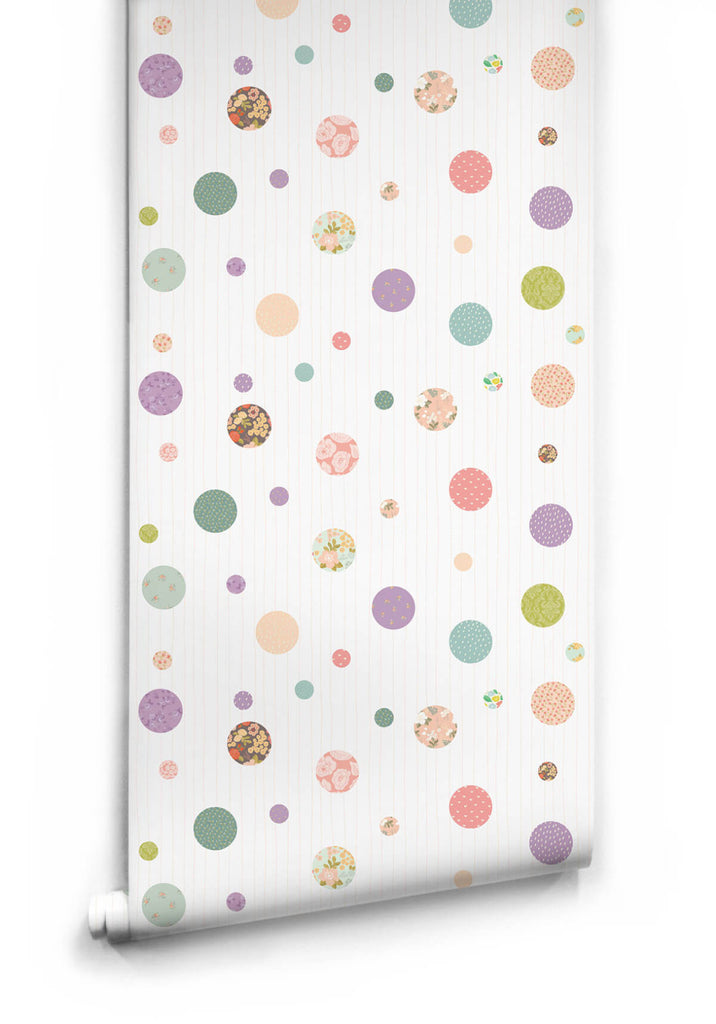 Sample Polkadot Dreams Wallpaper from the Love Mae Collection by Milton & King