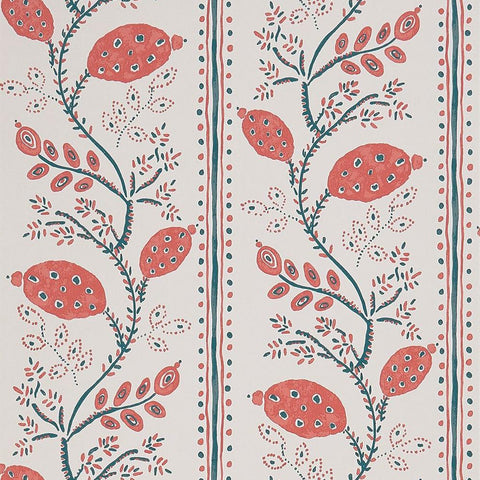 Pomegranate Trail Wallpaper in Red from the Ashdown Collection by Nina Campbell for Osborne & Little