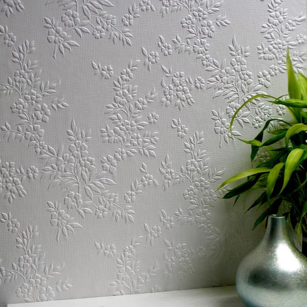 Portland Paintable Anaglypta Wallpaper design by Brewster Home Fashions