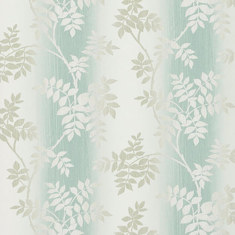 Posingford Wallpaper in Aqua and Taupe from the Ashdown Collection by Nina Campbell for Osborne & Little