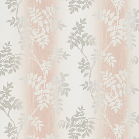 Posingford Wallpaper in Blush and Grey from the Ashdown Collection by Nina Campbell for Osborne & Little