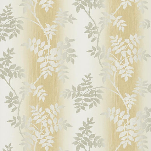 Posingford Wallpaper in Yellow and Grey from the Ashdown Collection by Nina Campbell for Osborne & Little