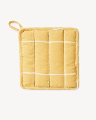 Grid Potholder in Gold by Minna