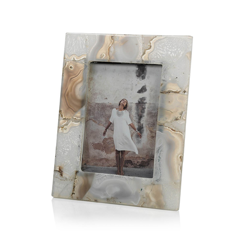Preto Agate Photo Frame by Panorama City