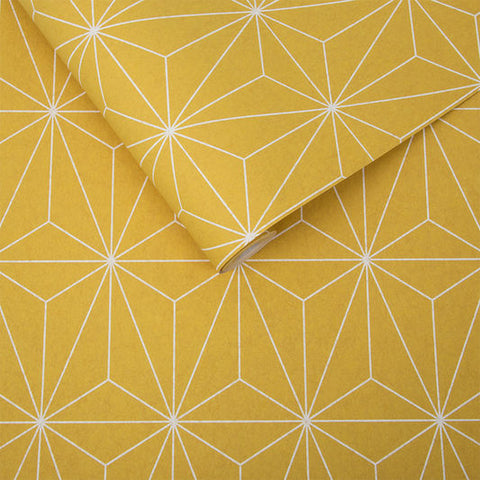 Prism Wallpaper in Yellow from the Exclusives Collection by Graham & Brown
