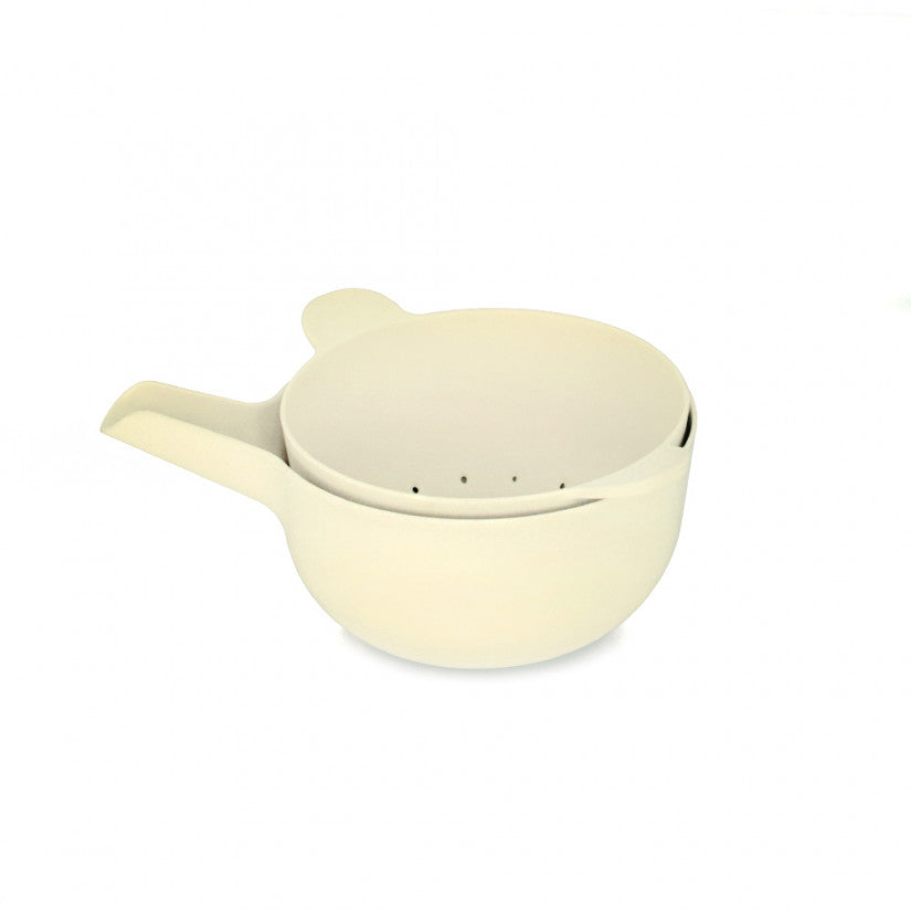 Pronto Bamboo Small Mixing Bowl and Colander Set in Various Colors design by EKOBO