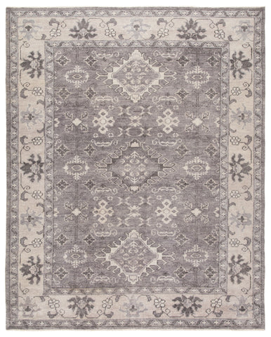 Kella Hand-Knotted Medallion Gray Area Rug by Jaipur Living
