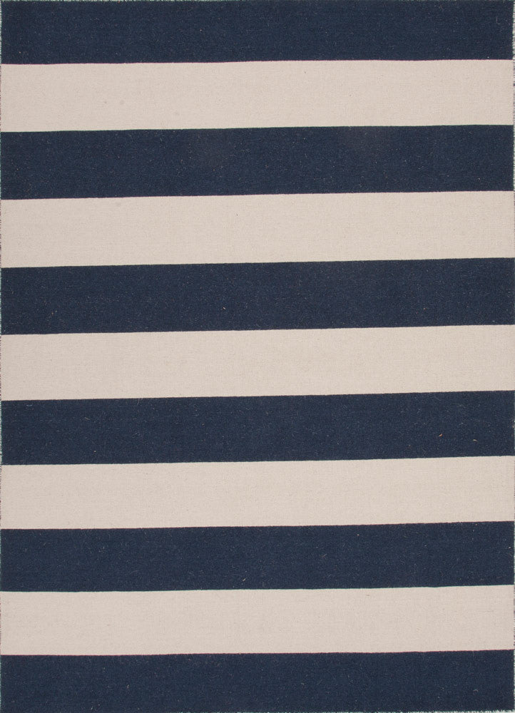 Pura Vida Collection 100% Wool Area Rug in Medieval Blue & White Ice by Jaipur