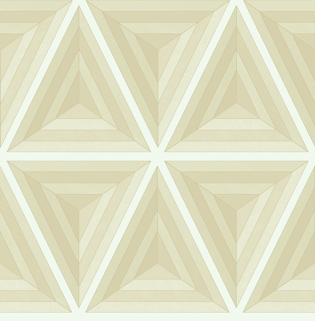Sample Pyramid Wallpaper in Cream from the Watercolor Florals Collection by Mayflower Wallpaper