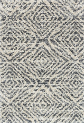 Quincy Rug in Graphite Sand by Loloi
