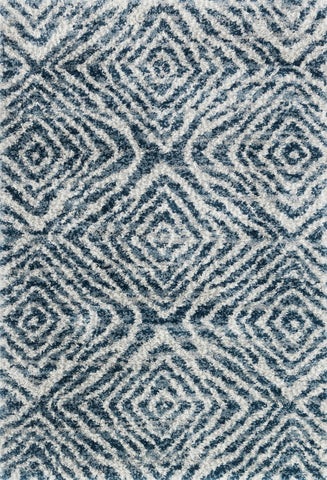 Quincy Rug in Ocean & Pebble by Loloi