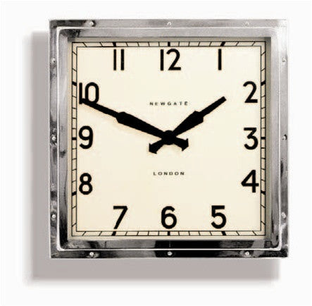 Quad Wall Clock in Chrome design by Newgate