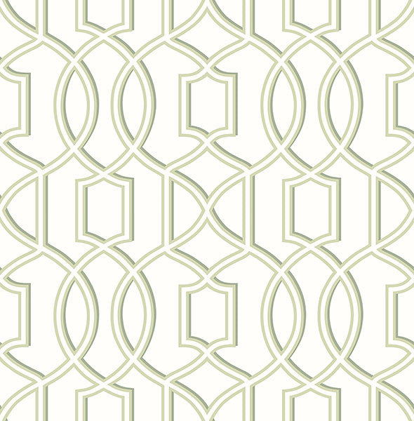 Quantum Green Trellis Wallpaper From The Symetrie Collection By Brewster Home Fashions