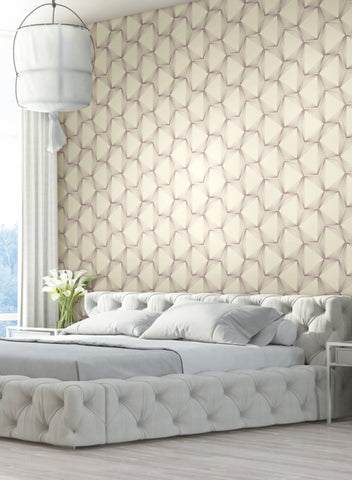 Quantum Wallpaper from the Terrain Collection by Candice Olson for York Wallcoverings