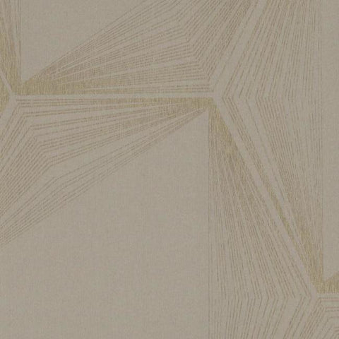 Quantum Wallpaper in Grey and Gold from the Terrain Collection by Candice Olson for York Wallcoverings