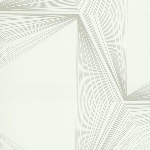 Quantum Wallpaper in Ivory and Metallic from the Terrain Collection by Candice Olson for York Wallcoverings
