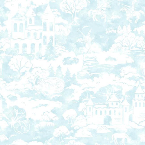Quiet Kingdom Wallpaper in Blue from the A Perfect World Collection by York Wallcoverings
